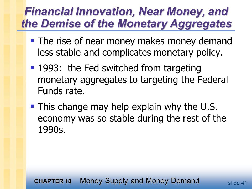 Chapter summary 1. Fractional reserve banking creates money because each dollar of reserves generates many dollars of demand deposits.