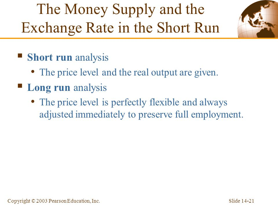 The Money Supply and the Exchange Rate in the Short Run