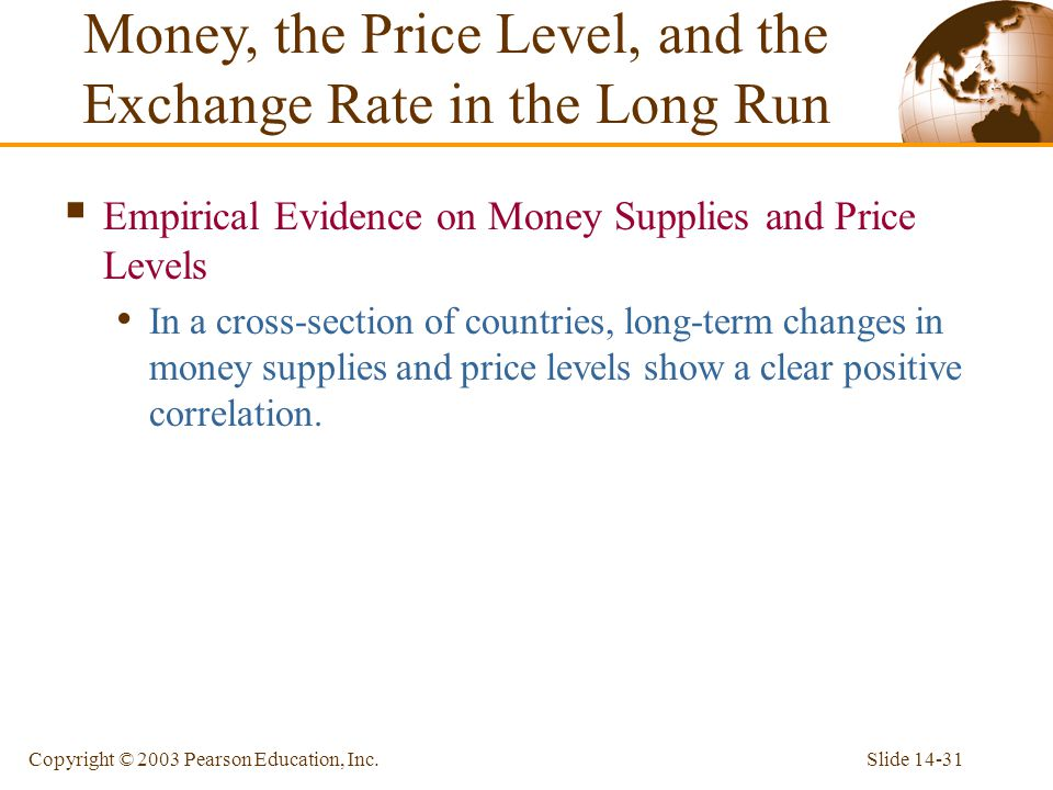 Money, the Price Level, and the Exchange Rate in the Long Run