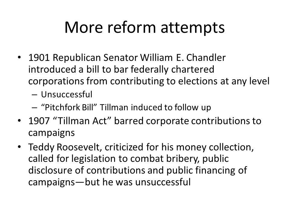More reform attempts