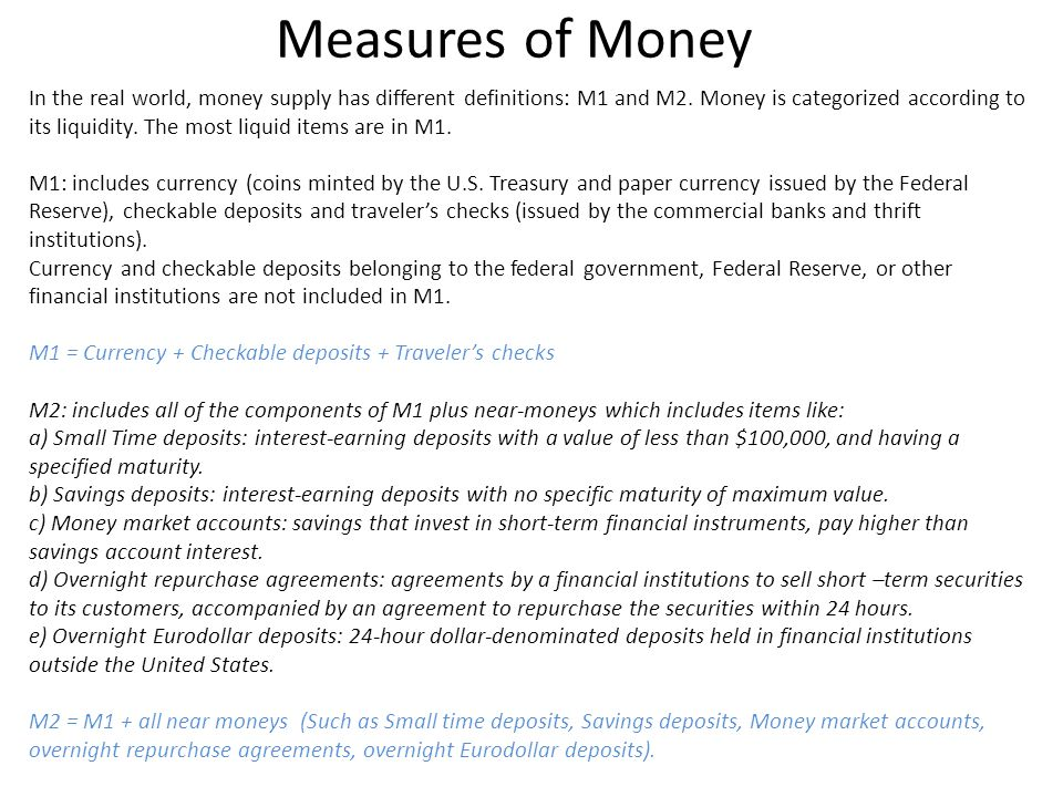 Measures of Money
