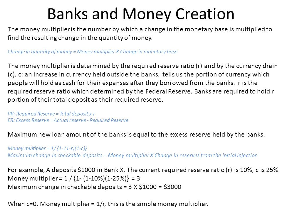 Banks and Money Creation