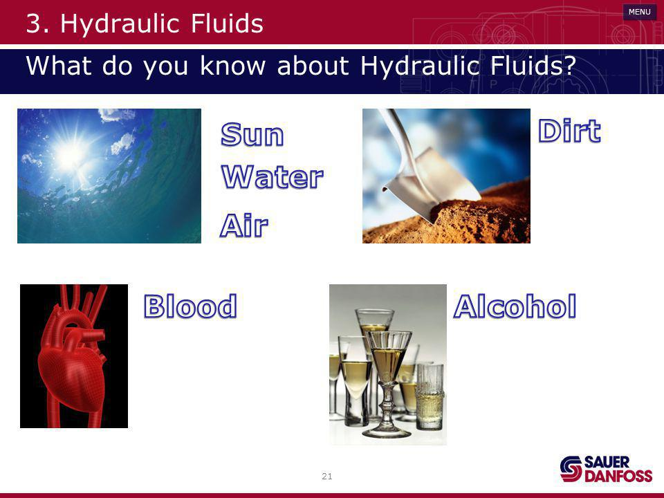 3. Hydraulic Fluids What do you know about Hydraulic Fluids