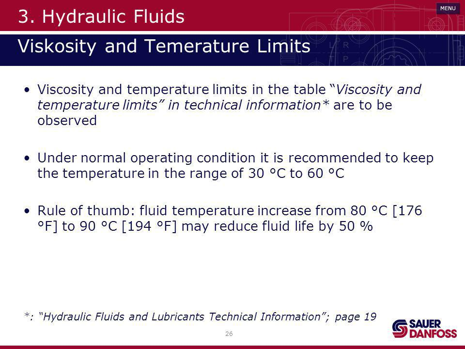 3. Hydraulic Fluids Viskosity and Temerature Limits