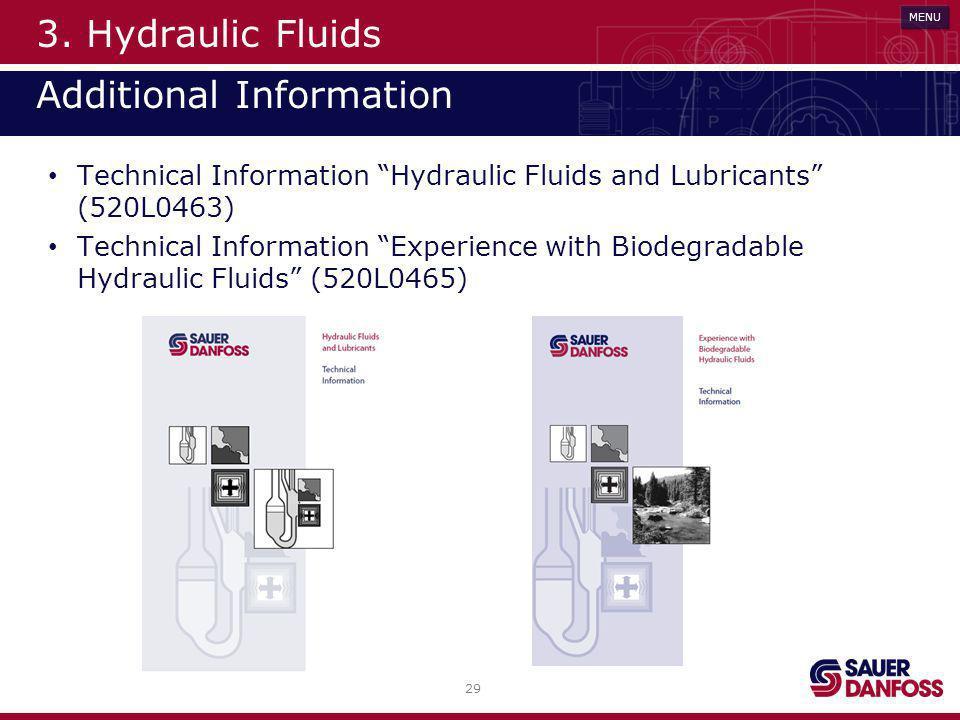 3. Hydraulic Fluids Additional Information