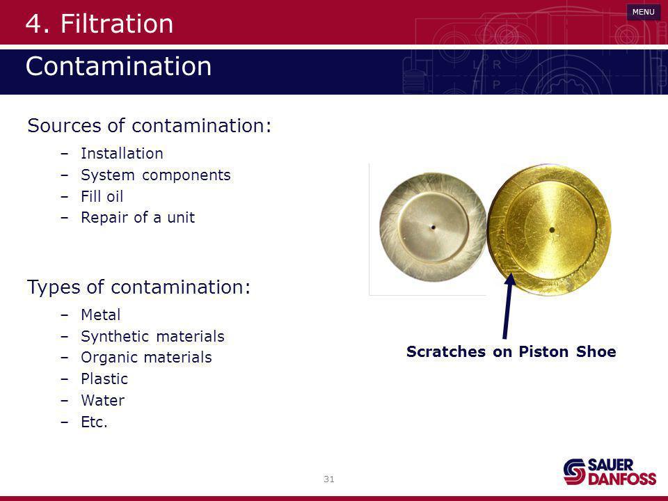 4. Filtration Contamination