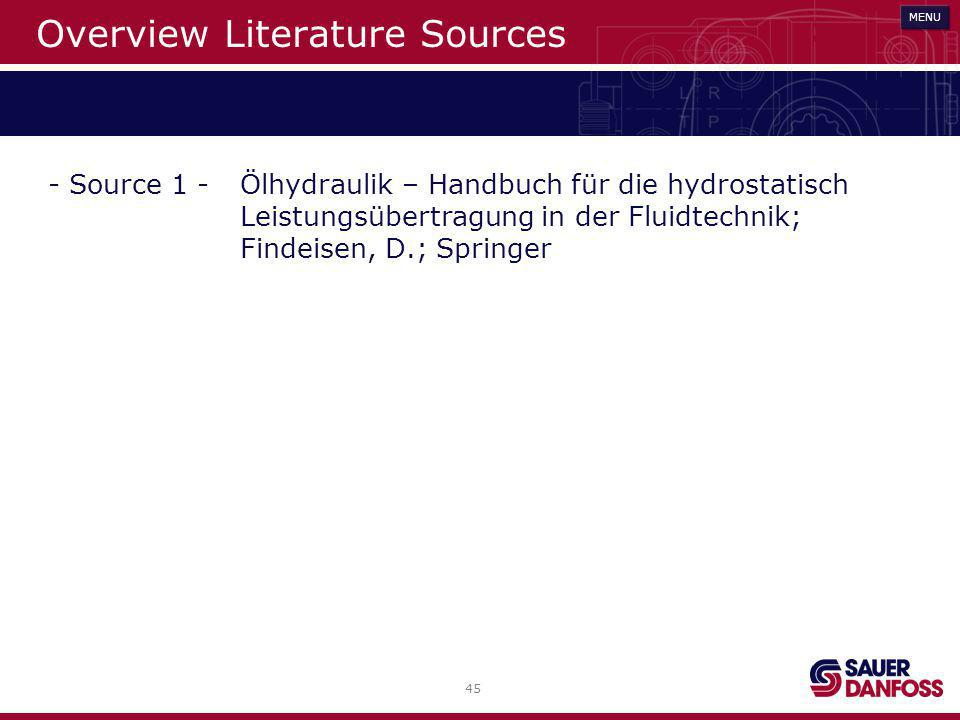 Overview Literature Sources