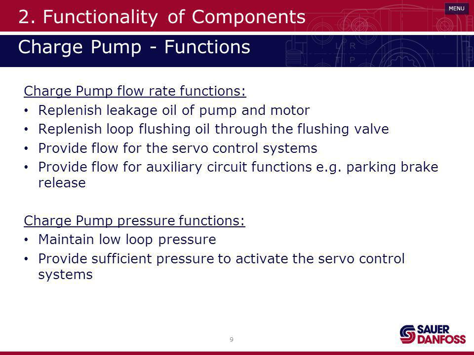 2. Functionality of Components Charge Pump - Functions