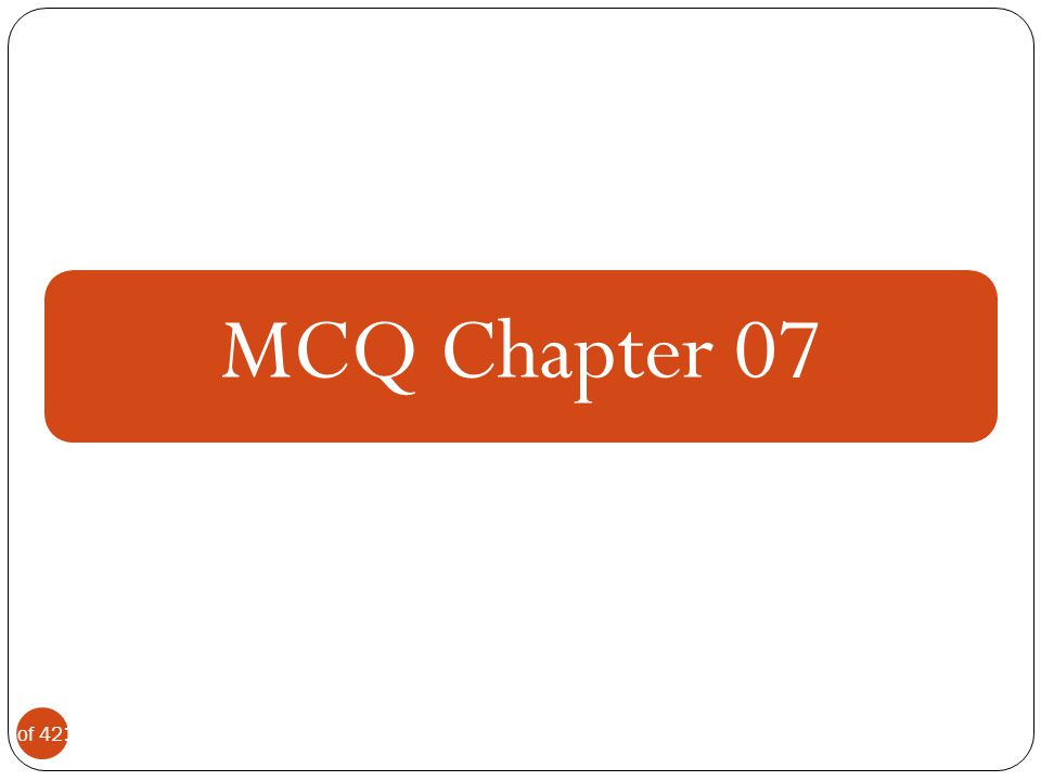 MCQ Chapter 07