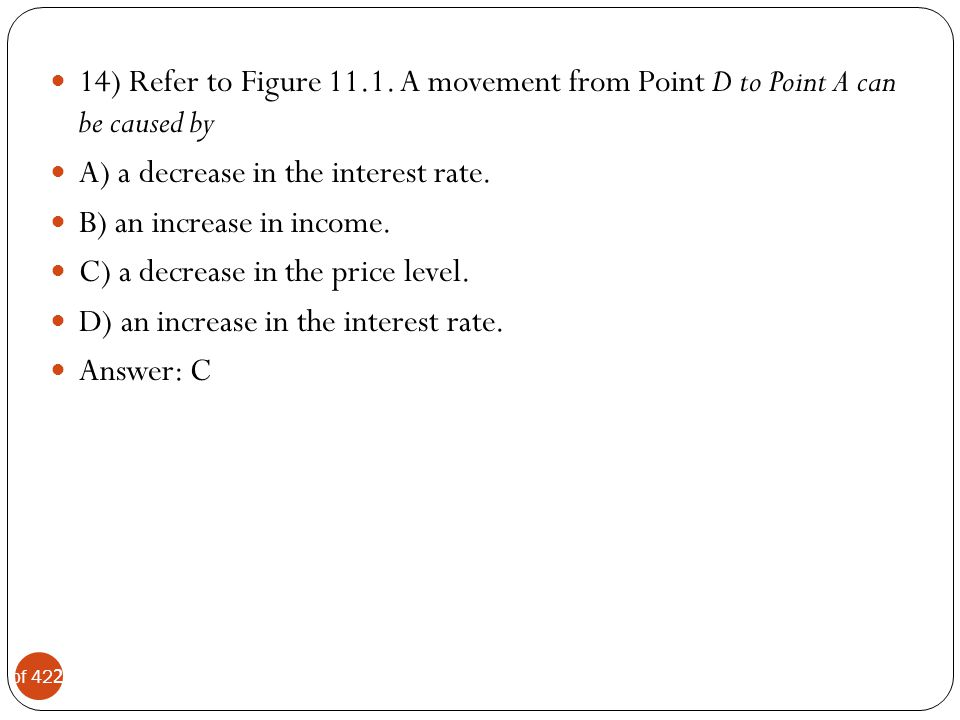 14) Refer to Figure 11.1. A movement from Point D to Point A can be caused by