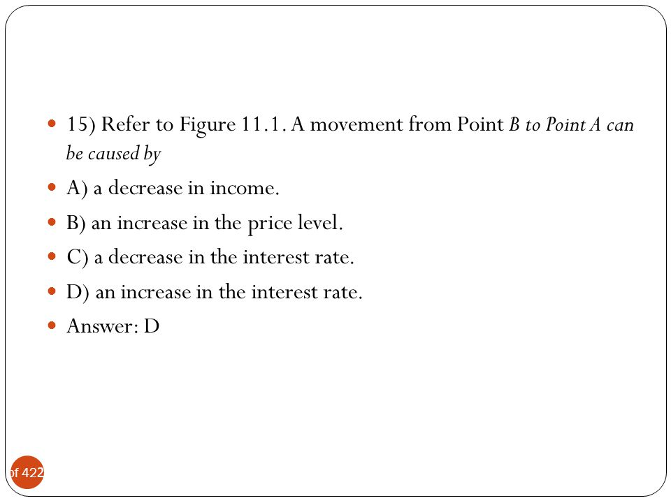 15) Refer to Figure 11.1. A movement from Point B to Point A can be caused by
