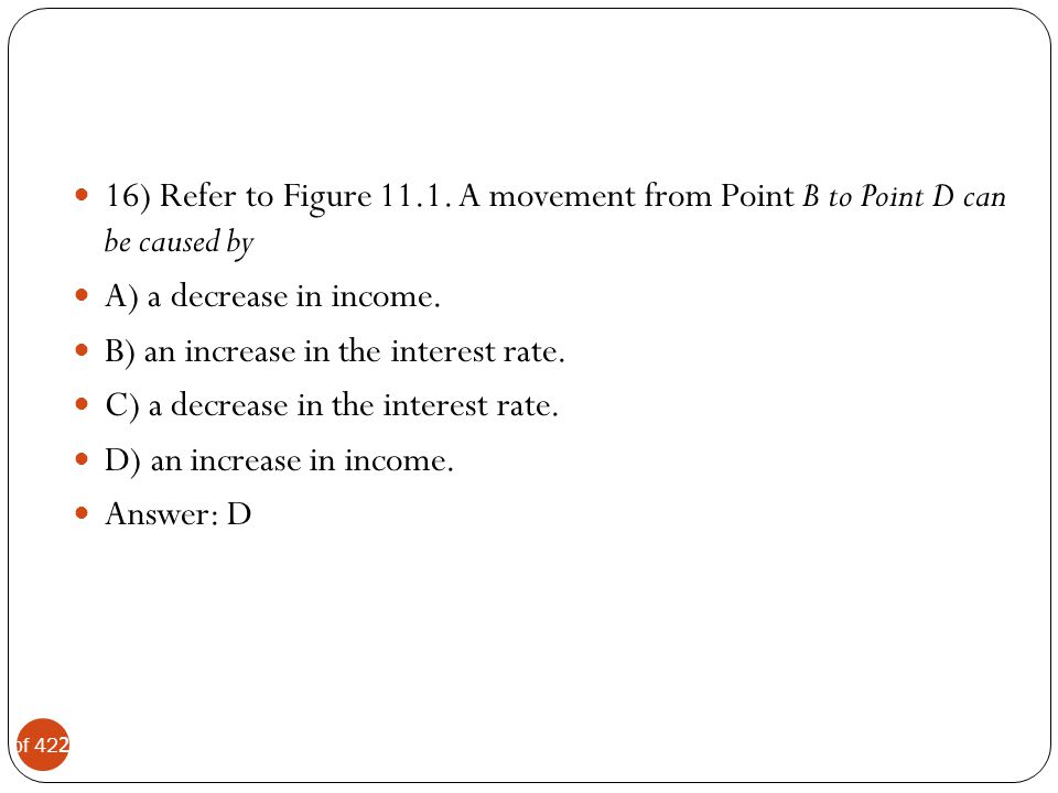16) Refer to Figure 11.1. A movement from Point B to Point D can be caused by