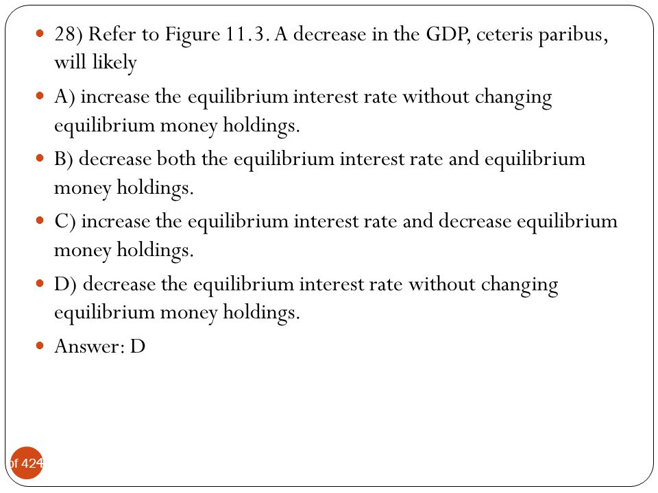 28) Refer to Figure A decrease in the GDP, ceteris paribus, will likely