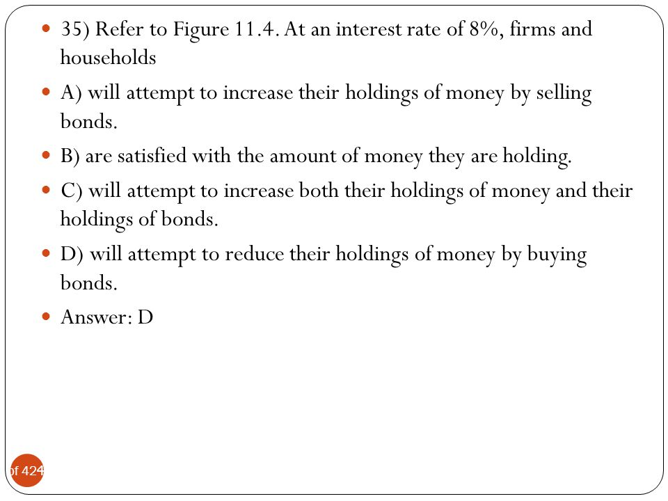 35) Refer to Figure 11.4. At an interest rate of 8%, firms and households