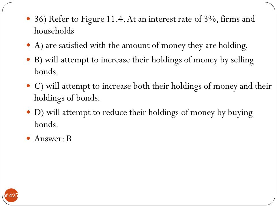 36) Refer to Figure 11.4. At an interest rate of 3%, firms and households