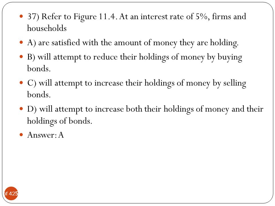 37) Refer to Figure 11.4. At an interest rate of 5%, firms and households