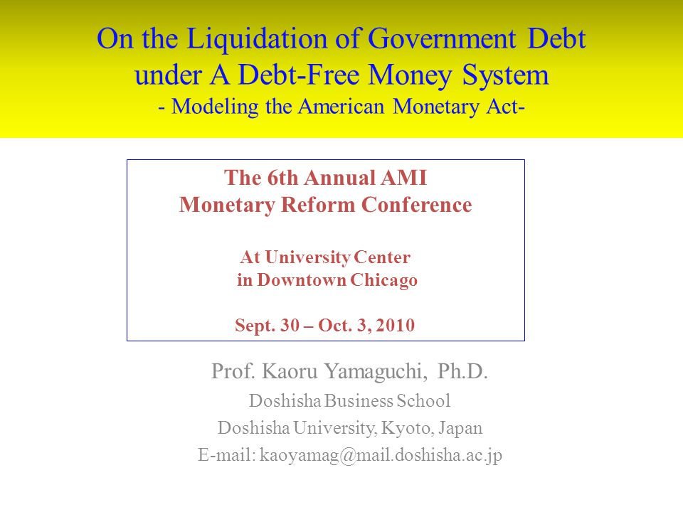 Monetary Reform Conference