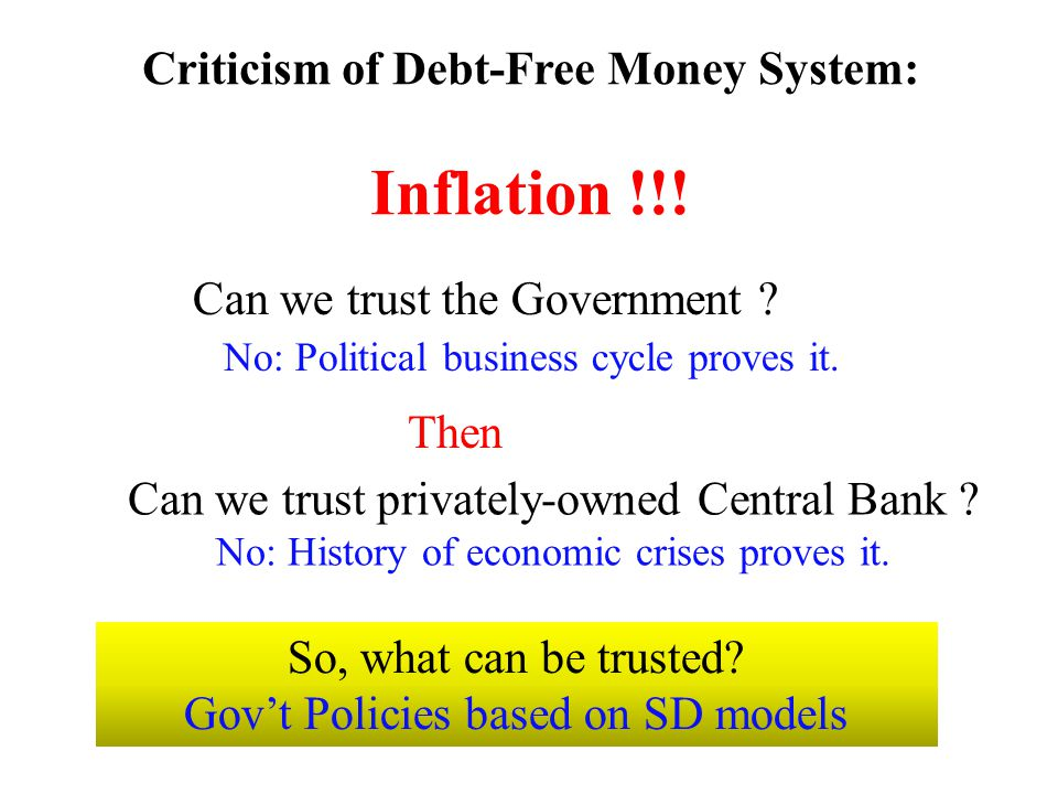 Criticism of Debt-Free Money System: Inflation !!!
