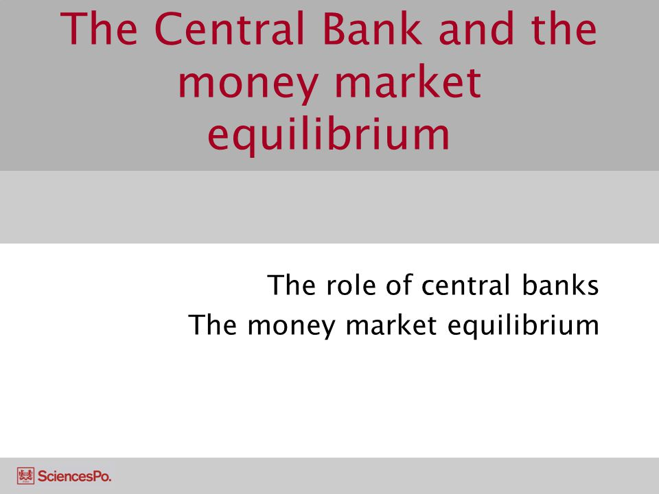 The Central Bank and the money market equilibrium
