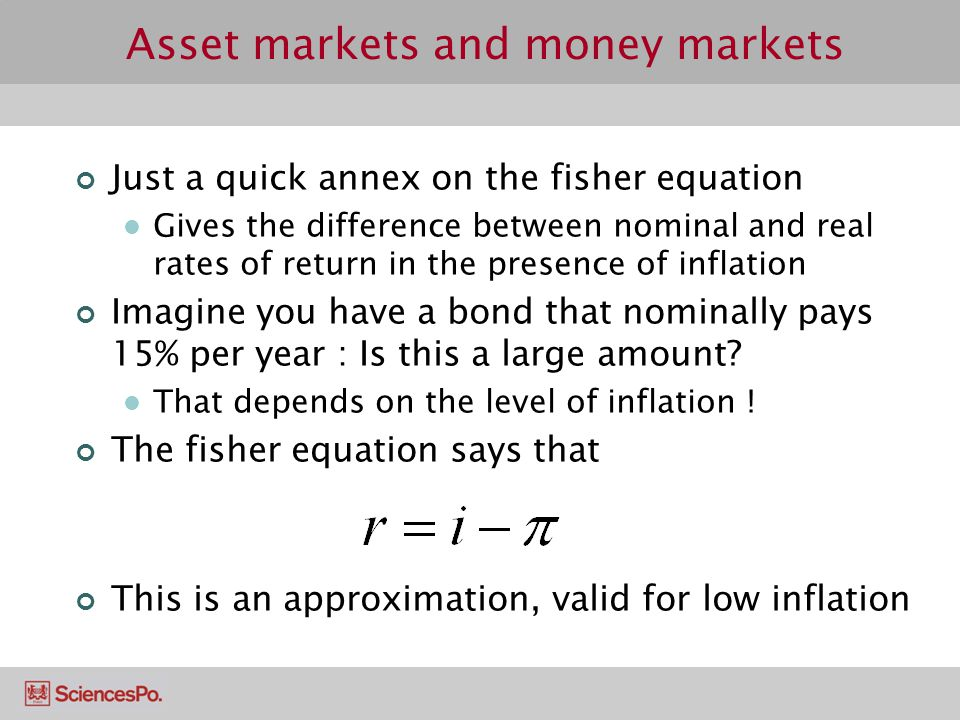 Asset markets and money markets