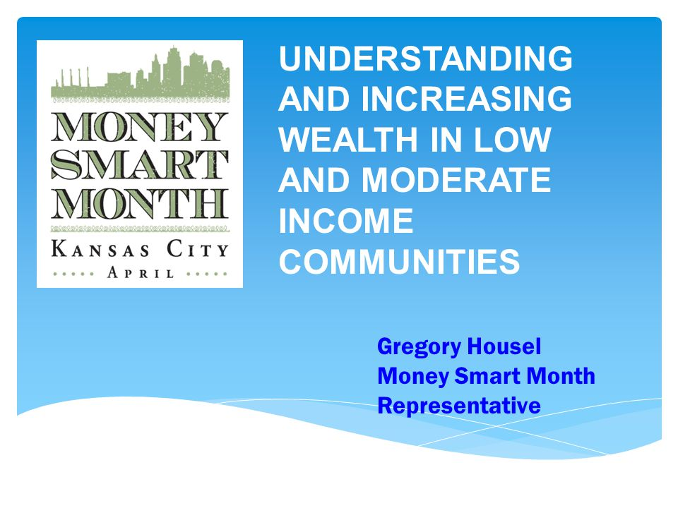 Gregory Housel Money Smart Month Representative