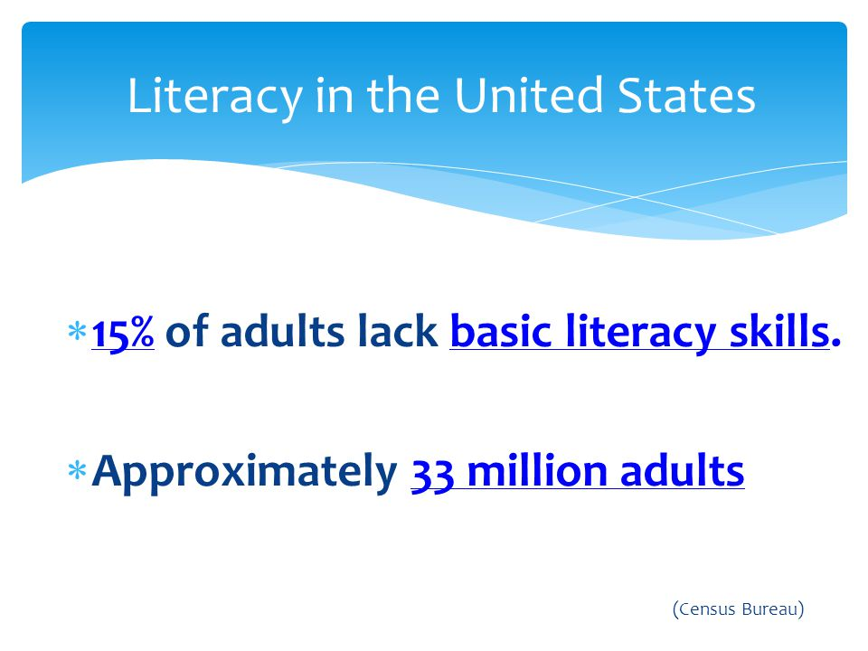Literacy in the United States