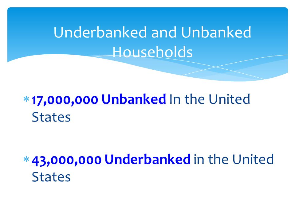 Underbanked and Unbanked Households