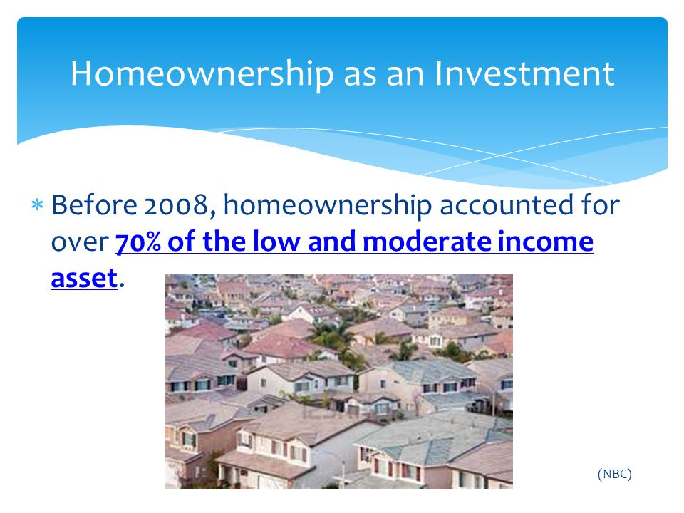 Homeownership as an Investment