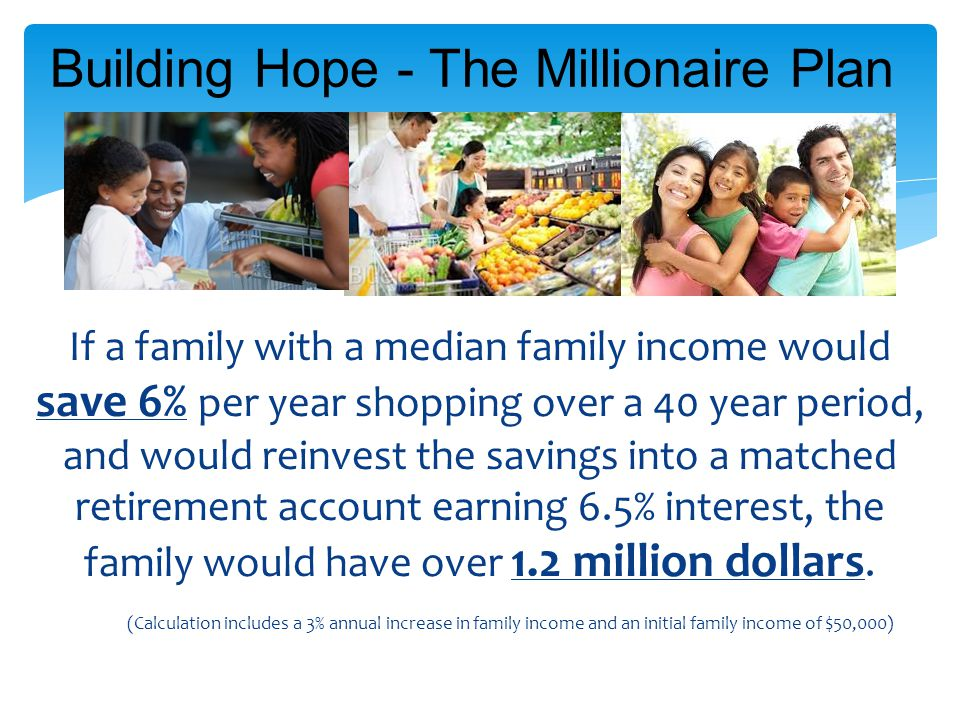 Building Hope - The Millionaire Plan