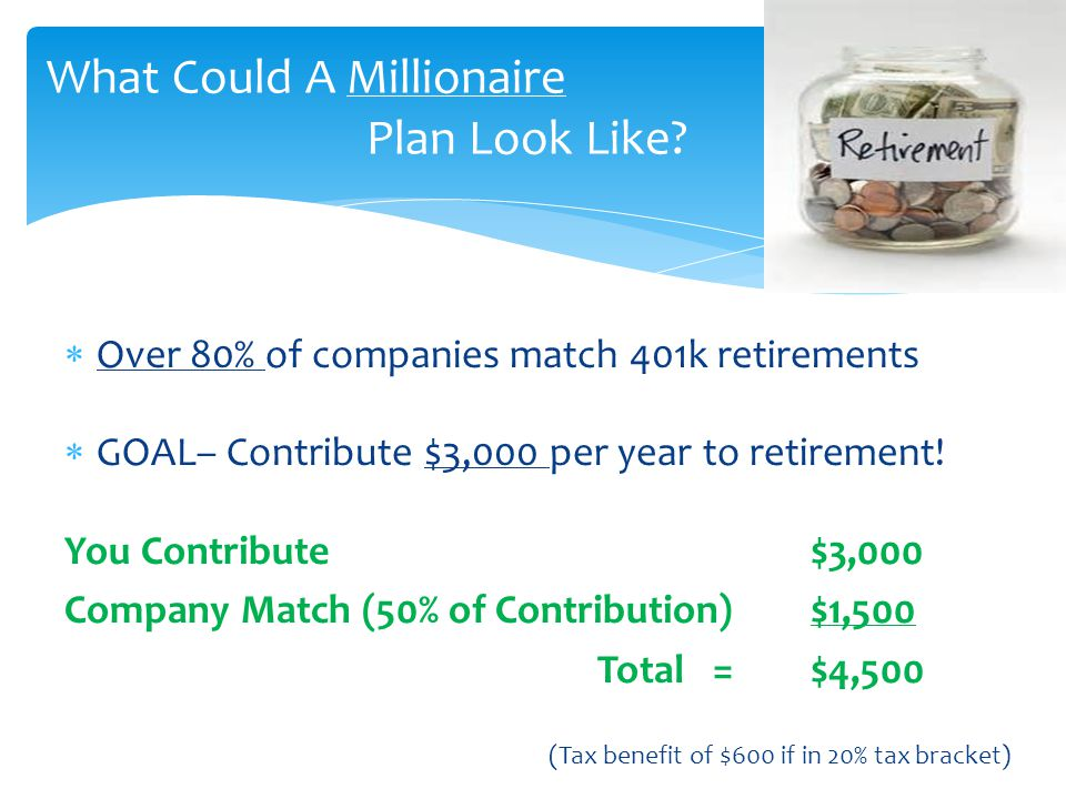 What Could A Millionaire Plan Look Like