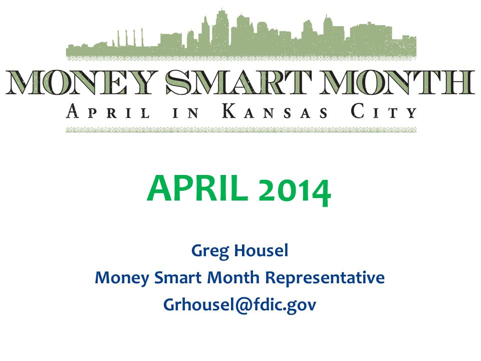 Money Smart Month Representative