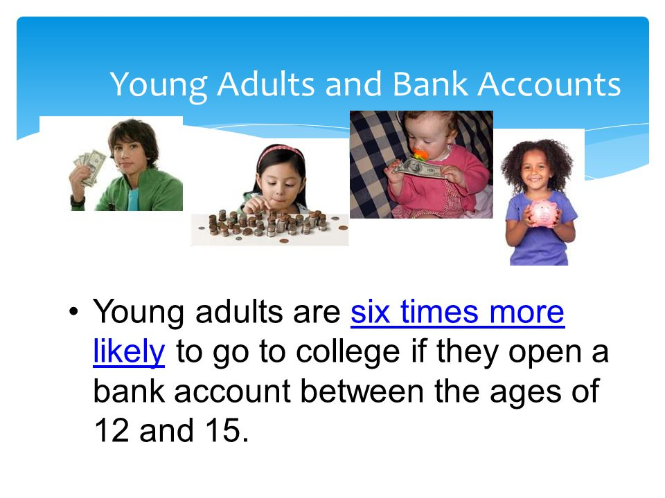 Young Adults and Bank Accounts