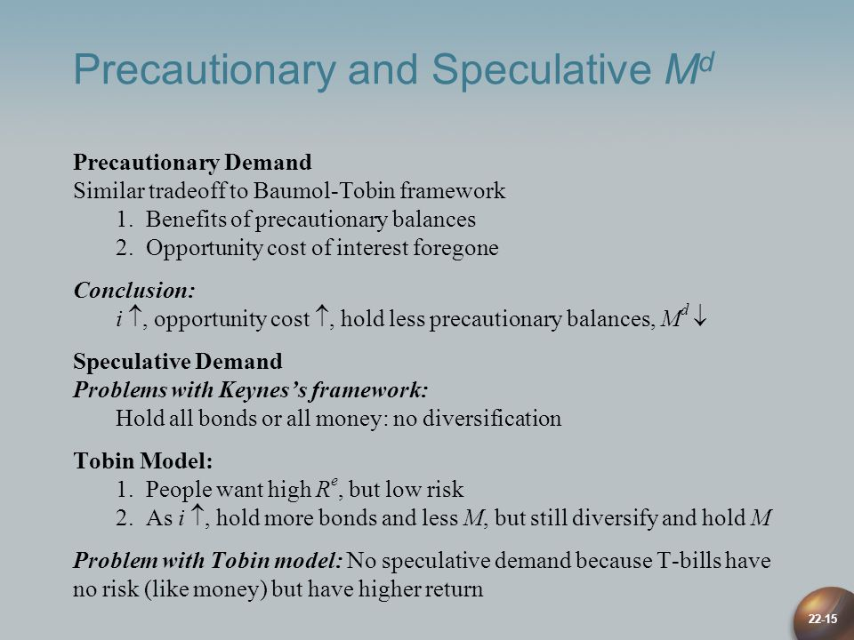Precautionary and Speculative Md
