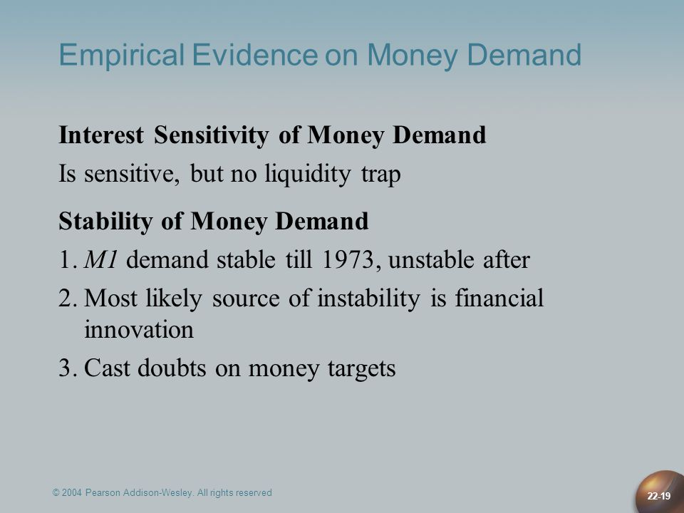 Empirical Evidence on Money Demand