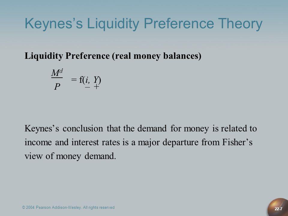 Keynes's Liquidity Preference Theory