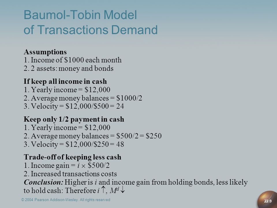 Baumol-Tobin Model of Transactions Demand