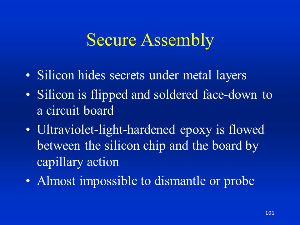 Secure Assembly Silicon hides secrets under metal layers