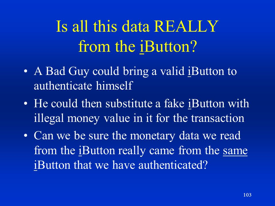 Is all this data REALLY from the iButton
