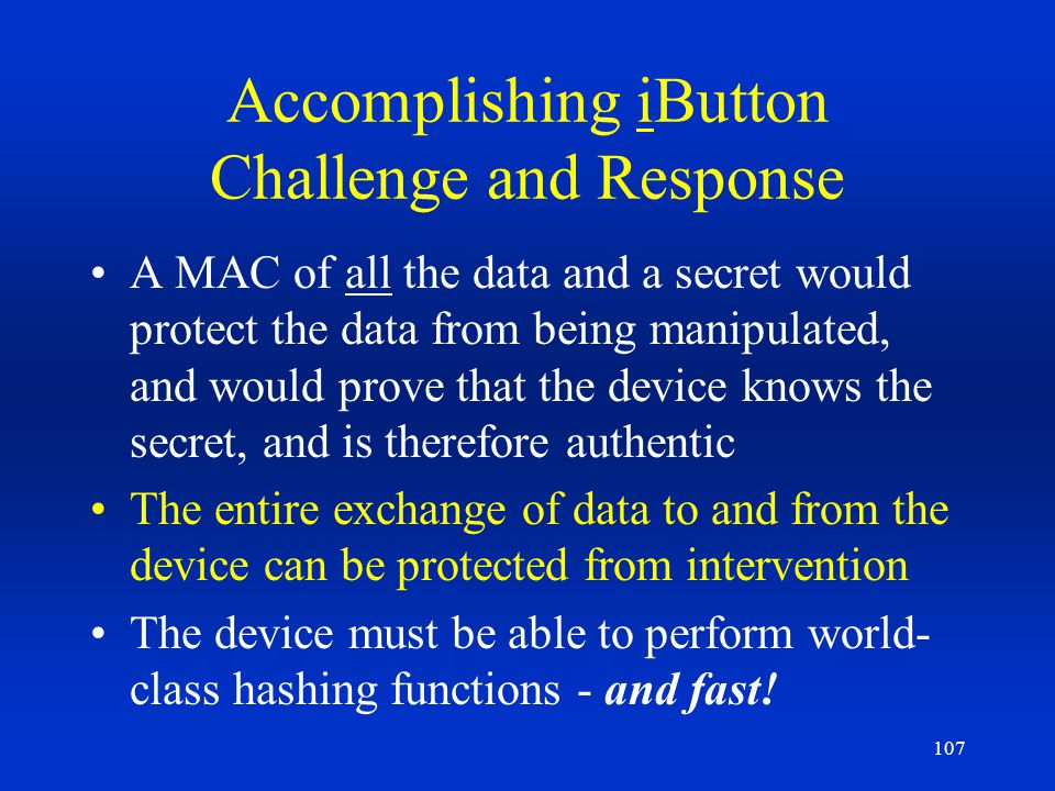 Accomplishing iButton Challenge and Response