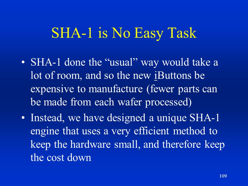 SHA-1 is No Easy Task