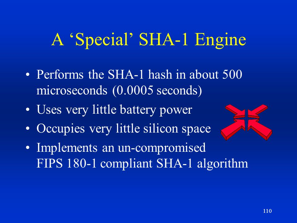A 'Special' SHA-1 Engine