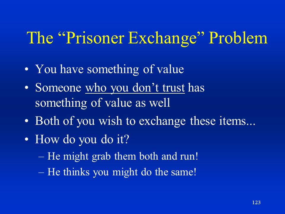The Prisoner Exchange Problem