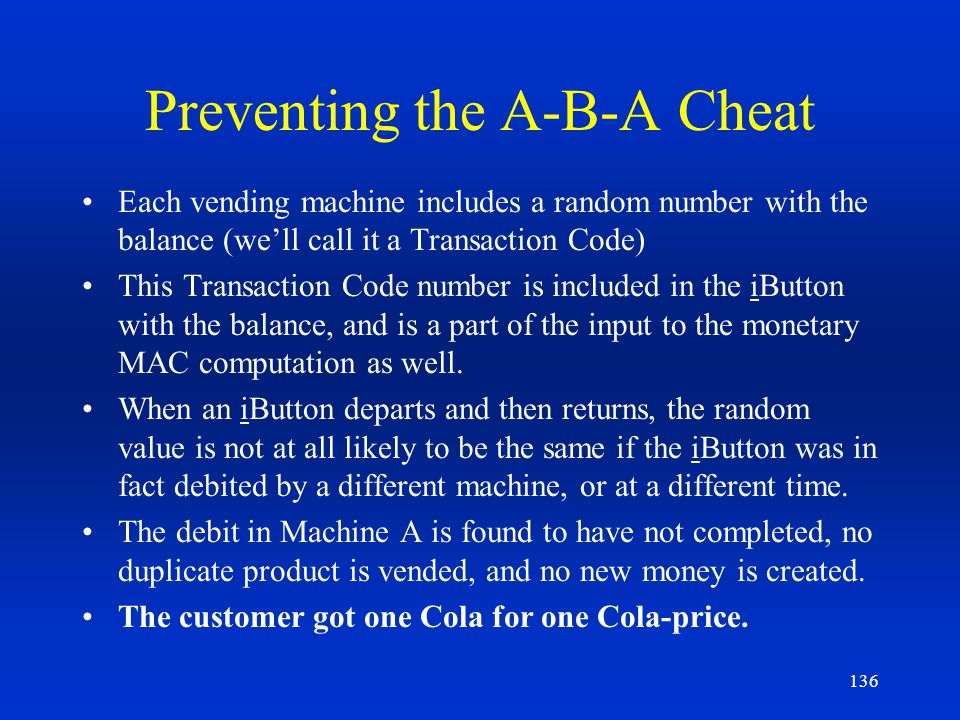 Preventing the A-B-A Cheat