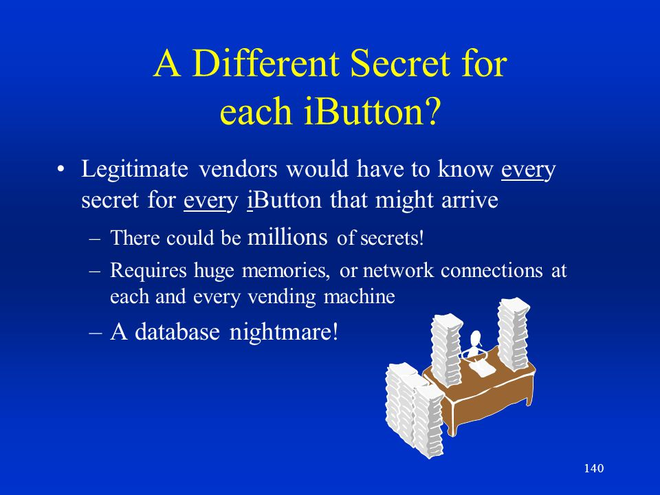 A Different Secret for each iButton