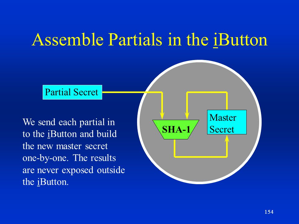 Assemble Partials in the iButton