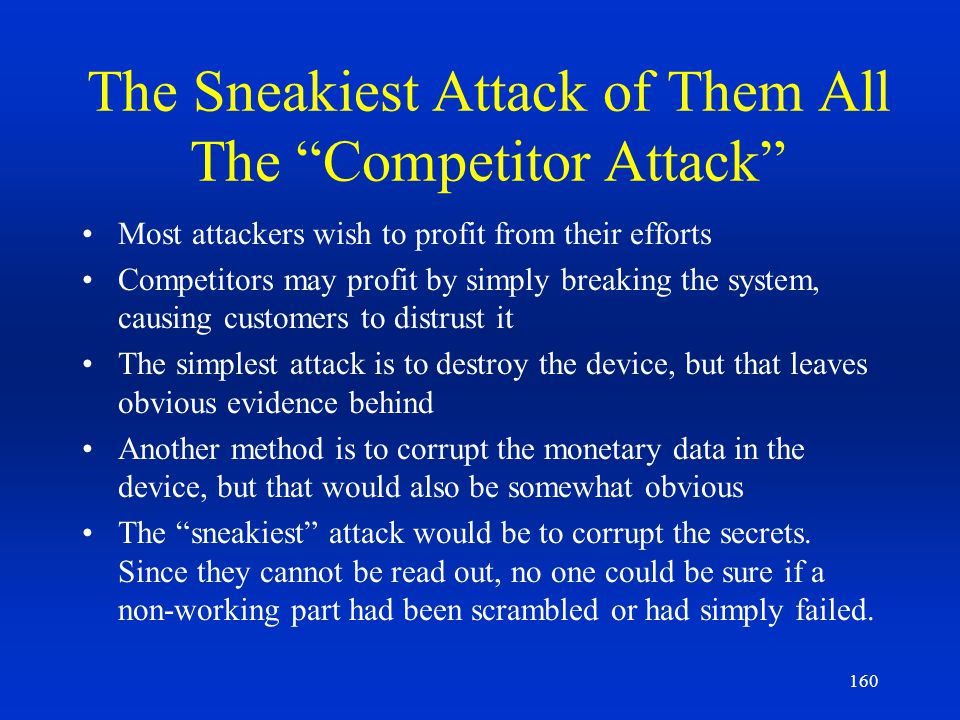 The Sneakiest Attack of Them All The Competitor Attack