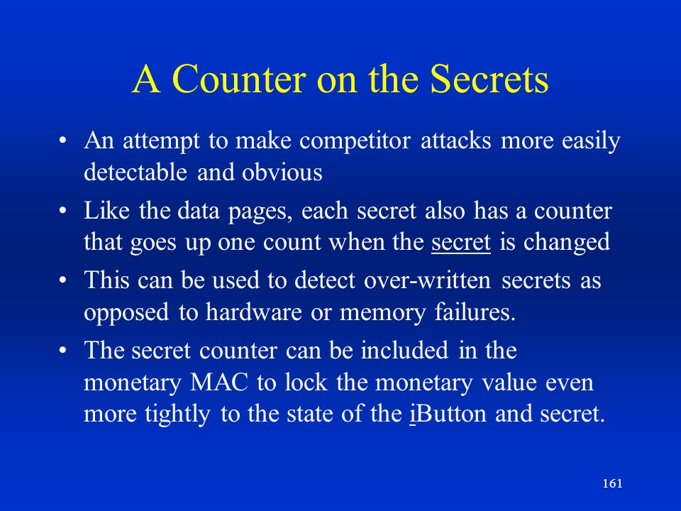 A Counter on the Secrets