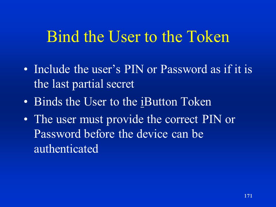 Bind the User to the Token