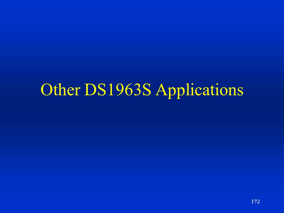 Other DS1963S Applications