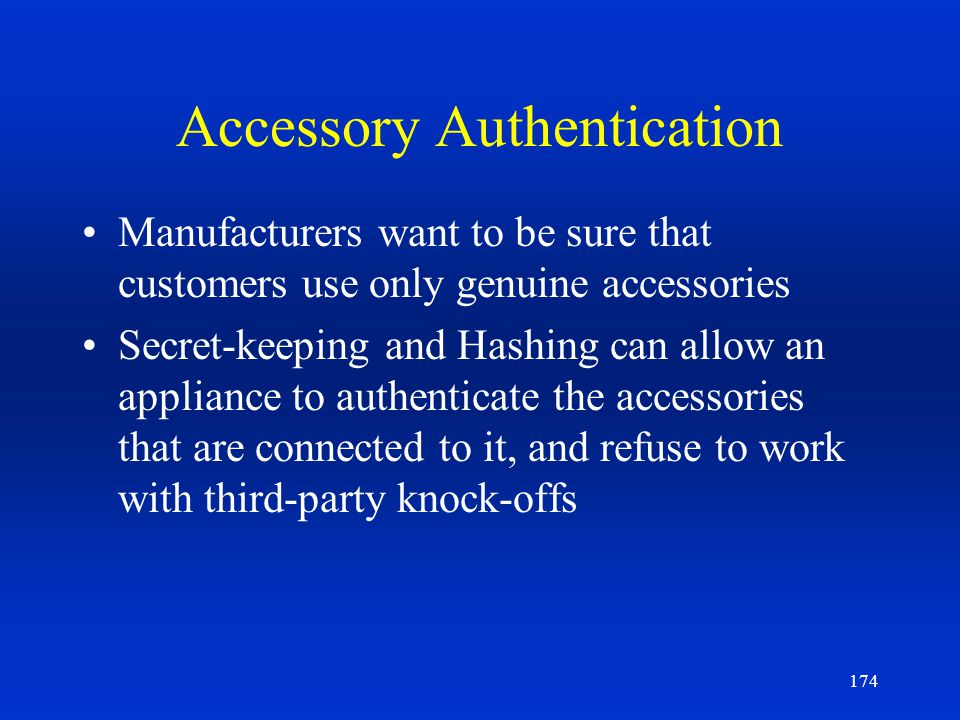 Accessory Authentication